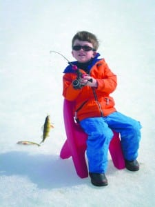 ice fishing kid