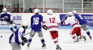 The Spaulding Crimson Tide is seen here taking on U32 last year at the BOR.