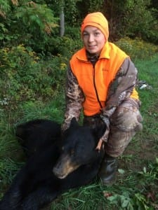 Dylan Moore, 14, of Rutland got this bear during the 2014 bear season in Vermont.