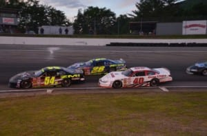 Mike Ziter (#54VT), seen here racing with Rowland Robinson Jr. (#28ME) and Eric Chase (#40VT), is one of many drivers looking forward to the new events on the 2015 ACT Schedule. Photo by Eric LaFleche