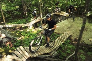 Millstone Trails offers 32 miles of trails for mountain bikers, cross-country skiers, hikers, and snowshoers.