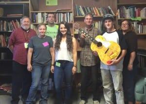 Pictured left to right: Tom White, Bobbi Sleeper, Ernest Garcia, Sophie Hale, Jim Miller, Sam Fleurrey, Katie Sweeney. Photo by M. Donavan