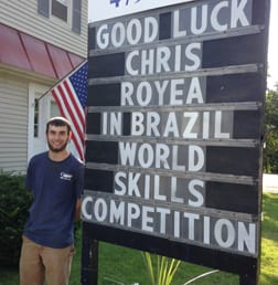 Williamstown's Chris Royea will take on fellow plumbers from around the world at the WorldSkills competition in Brazil next week.