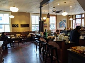 North Branch Café at 41 State St. in Montpelier, has become a premier gathering place for those looking for a cozy spot to enjoy tea, wine, a light dinner, or even ask the occasional tech question.